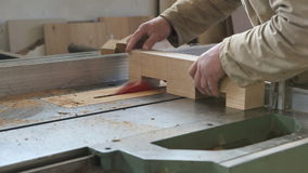 Hands to work in carpentry stock video footage