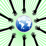 Hands to the world Royalty Free Stock Images