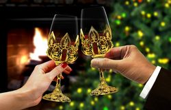 Hands toast for celebration Stock Photos
