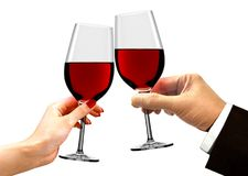 Hands Toasting for Celebration Drinks Stock Photo
