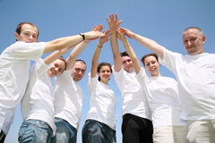 Hands together Stock Images