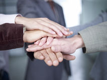Hands together Stock Photos