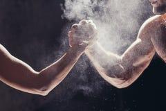 Hands together - fitness team after training - high five. togetherness concept