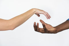 Hands Together Multiethnic Unity Concept Stock Photo