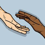 Hands together to celebrate freedom day. Vector illustration Royalty Free Stock Photo