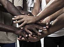 Hands together in union royalty free stock image