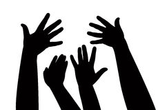 Hands together, vector Royalty Free Stock Photo