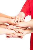 Hands together Royalty Free Stock Photos