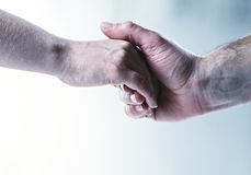 Hands touch background Royalty Free Stock Photography