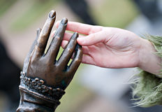 Hands touch Royalty Free Stock Photos