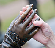 Hands touch Stock Image