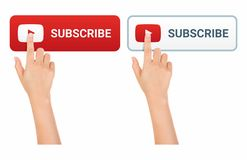 Hands Touch Subscribe Button Icon