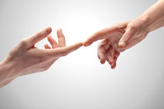 Hands Touching Royalty Free Stock Photography
