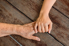 Hands touching Stock Photography