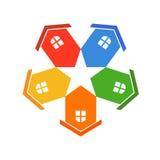 Houses Star Logo stock illustration
