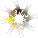 Hands touching to each other Royalty Free Stock Photos
