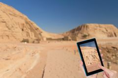 Travel to Abu Simbel in Egypt stock image
