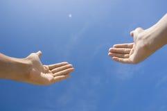 Hands toward sky Royalty Free Stock Photos