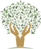 Hands Tree. Vector illustration of Hands Tree isolated Stock Image