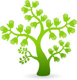 Hands tree. Illustration art of a hands tree with isolated background Royalty Free Stock Photography