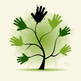 Hands tree illustration dor your design Stock Photography