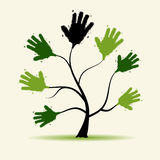 Hands tree illustration dor your design Royalty Free Stock Photos