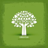 Hands and tree.  logo, icon, sign, emblem, Royalty Free Stock Image