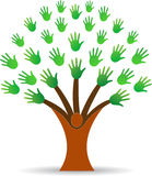 Hands tree. A vector drawing represents hands tree design Stock Photo