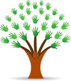 Hands tree Stock Photo