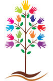 Hands tree. Vector illustration of hands tree Royalty Free Stock Image