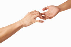 Hands trying to grab each other or seperate Royalty Free Stock Photography