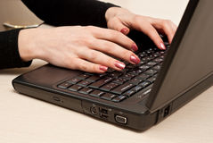 Hands typing Royalty Free Stock Photography