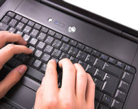 Hands typing Royalty Free Stock Images