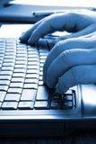 Hands typing on keyboard Royalty Free Stock Photography