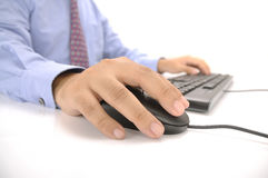 Hands Typing On Keyboard Stock Photography