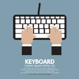Hands Typing Keyboard stock illustration