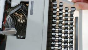 Hands typing old typewriter stock video
