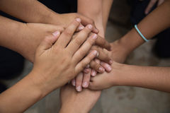 Hands united. In a pact Royalty Free Stock Photo