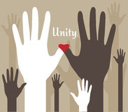 Hands of Unity Abstract Stock Image