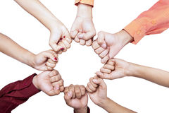 Hands of unity - isolated Royalty Free Stock Image