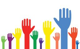 Hands up! Royalty Free Stock Image