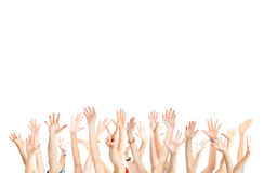 Hands up royalty free stock photography