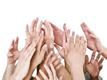 Hands up royalty free stock images