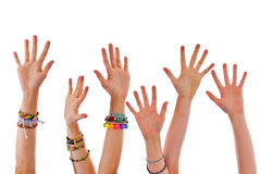 Hands up Stock Photography