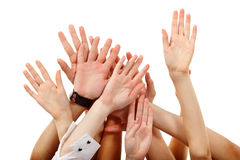 Hands up Royalty Free Stock Photos
