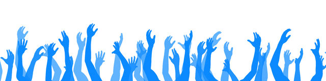 Hands up. 3D Illustration. Raise your Hands Stock Images