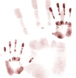 Hands up. Hand prints Royalty Free Stock Images
