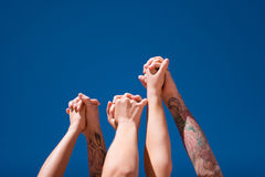 Hands up in the air Royalty Free Stock Photography