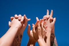 Hands up in the air Stock Photography