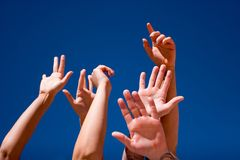 Hands up in the air Royalty Free Stock Image